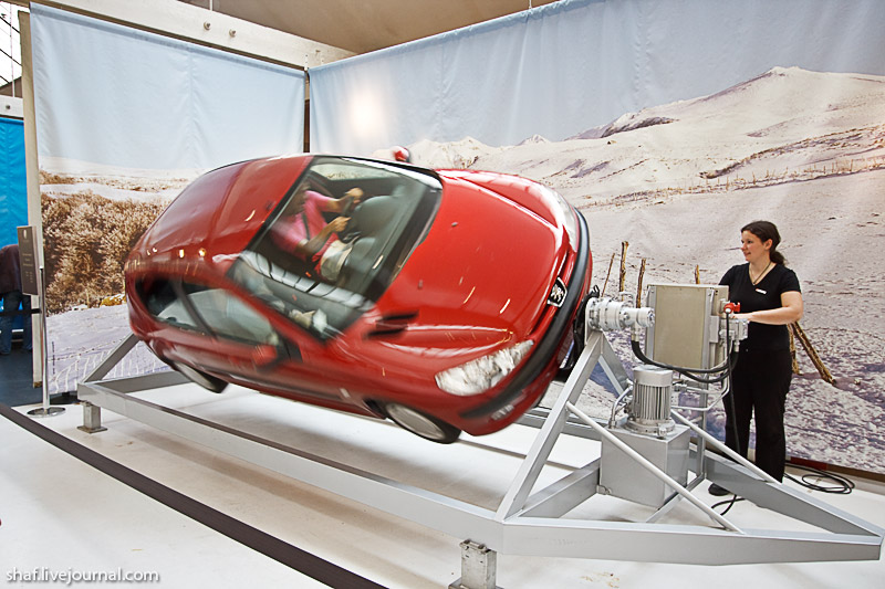 Автомузей; Национальный музей автомобилей, Мюлуз (Mulhouse), Франция; испытательный стенд